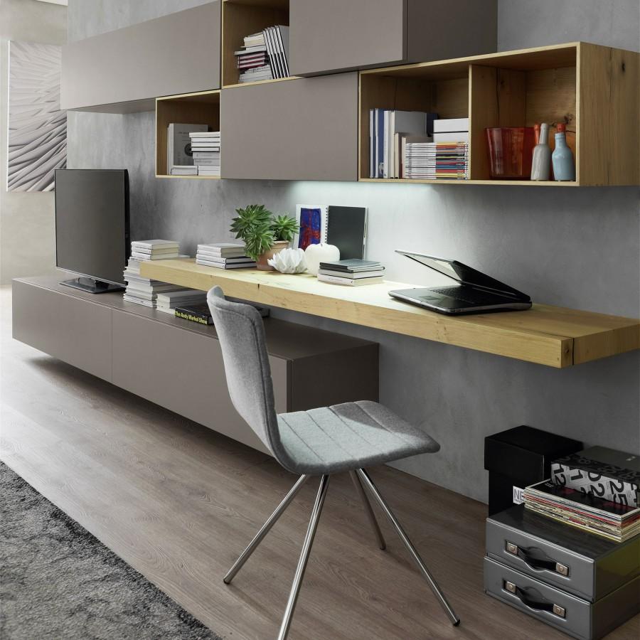 Parete moderna epoca mobili for Parete decorata moderna
