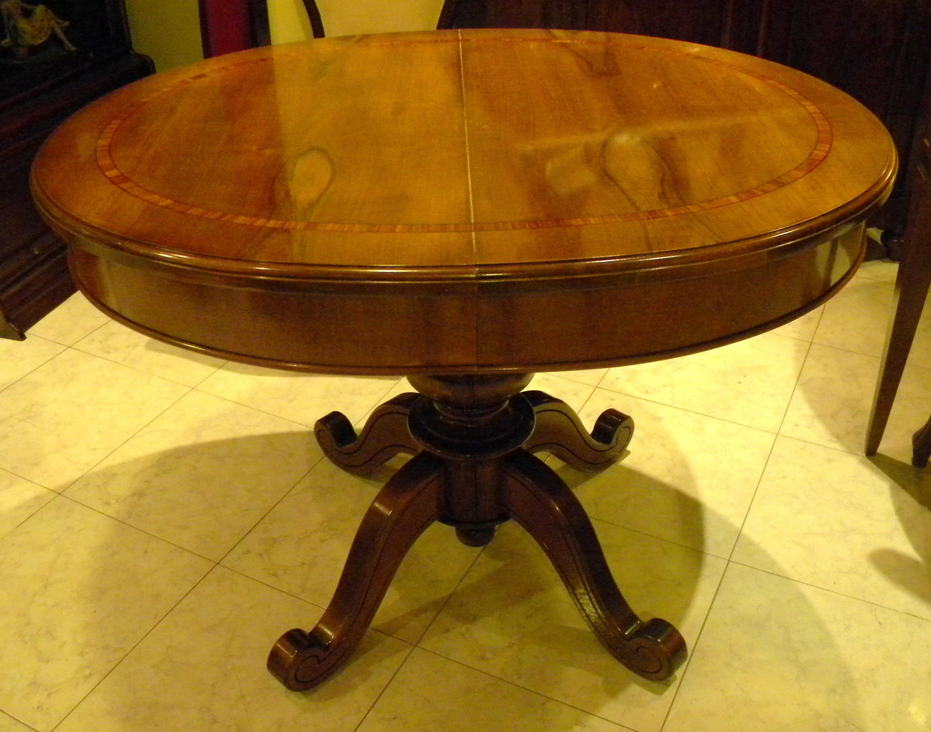 Tavolo Con Piede Centrale tavolo tondo piede centrale - epoca mobili